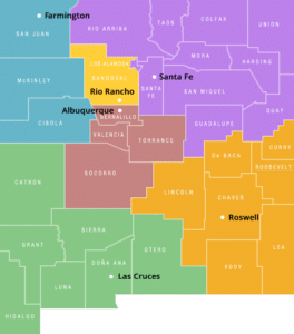 WESST regions map